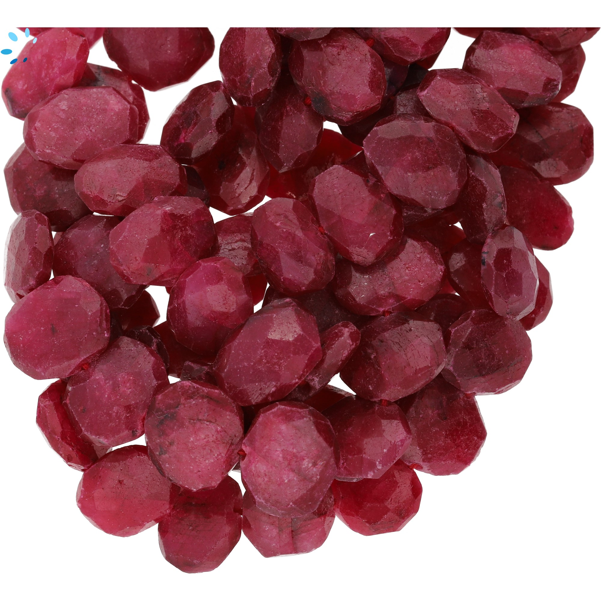 Ruby Beads (Dyed Corundum)
