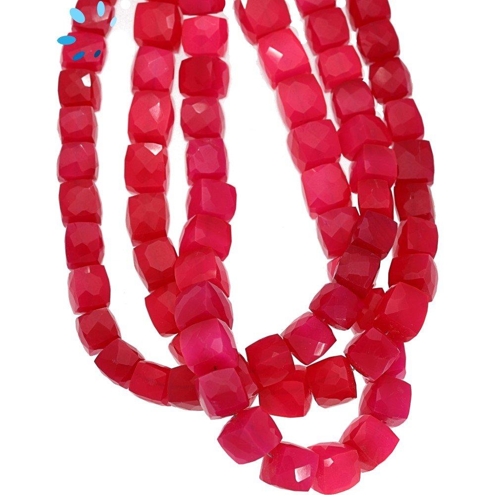 Fuchsia Chalcedony Beads