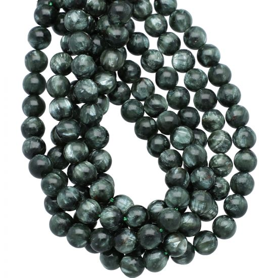 6mm  Seraphinite Smooth Round Beads