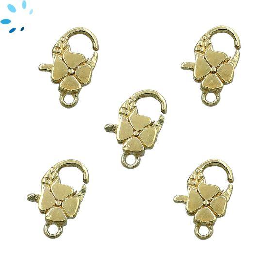 """Dendrite Opal Diamond Shape Bezel Connector 16x11 - 17x13 mm """" SET OF 4 """"-Gold Plated"""