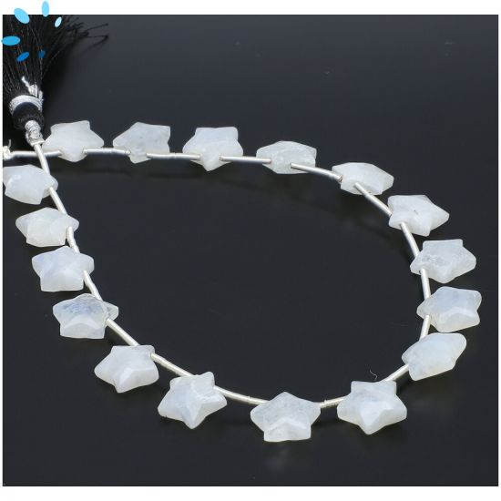 Rainbow Moonstone Faceted Star Shape Beads 10x10mm