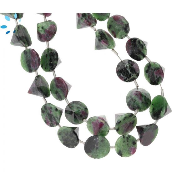 Ruby Zoisite Faceted Cone (SD) 8x10mm
