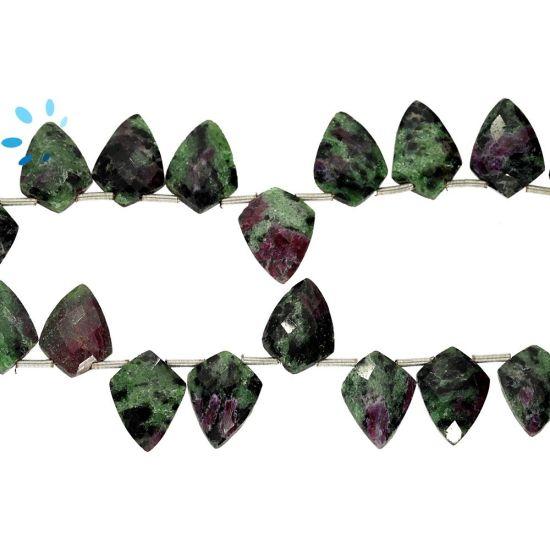 Ruby Zoisite Shield Shape 10x14Mm