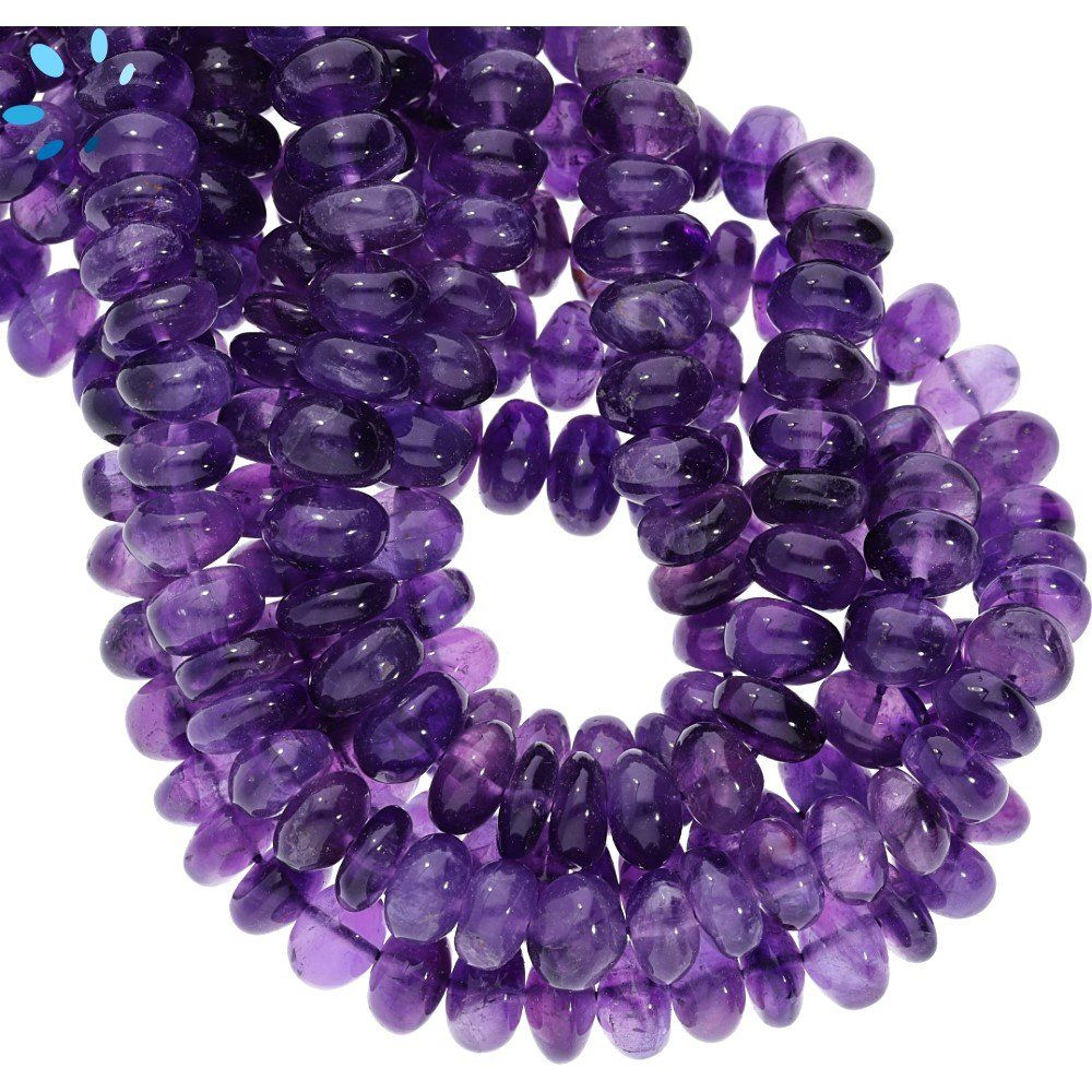 Amethyst Rondelle Shape Faceted Beads Size 8X9 MM 10Inches Natural Amethyst Gemstone Wholesale Price