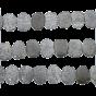 Black Sunstone Coin Drill Slice 15x12 - 16x12 mm