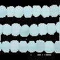 Aqua Chalcedony Coin Drill Slice 15x11 - 16x12 mm