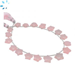 Pink Chalcedony Faceted Star Shape 8x8 - 10x10mm Beads