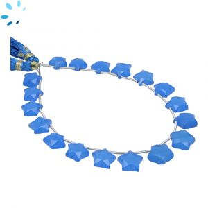 Blue Chalcedony Faceted Star Shape 9x9 - 11x11mm Beads
