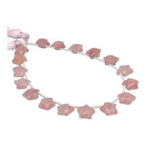 Strawberry Quartz Faceted Star Shape 9x9 - 10x10mm Beads
