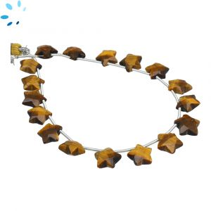 Tiger Eye Faceted Star Shape 9x9 - 10x10mm Beads