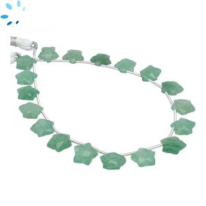 Green Aventurine Faceted Star Shape 9x9 - 10x10mm Beads