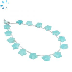 Amazonite Faceted Star Shape 9x9 - 10x10mm Beads