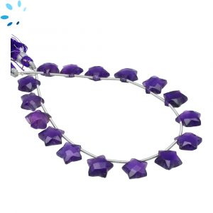 Amethyst Faceted Star Shape 9x9 - 10x10mm Beads