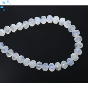 Rainbow Moonstone Faceted Oval Side Drill Beads 7x6 - 8x6 mm