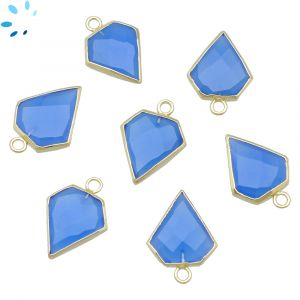 Blue Chalcedony Diamond Shape 14x13 - 15x13mm