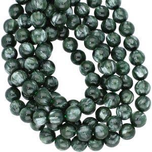 8mm  Seraphinite Smooth Round Beads