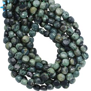 Kambaba  Jasper Faceted Coin Beads 6mm