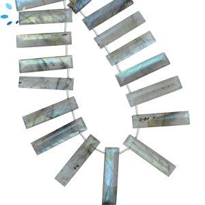 Labradorite Faceted Rectangle ( SD ) 27x7 - 29x7mm