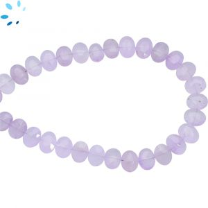 Light Purple Amethyst Faceted Oval Side Drill deads 7x6 - 8x16 mm