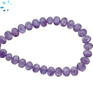 Amethyst Faceted Oval Side Drill Beads 7x6 - 8x6 mm