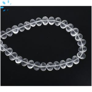 Crystal Quartz Faceted Oval Side Drill Beads 7x6 - 8x6 mm