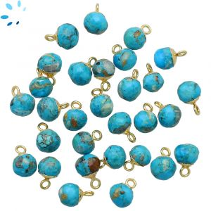 Turquoise Onion Shape 5 - 6 mm Electroplated
