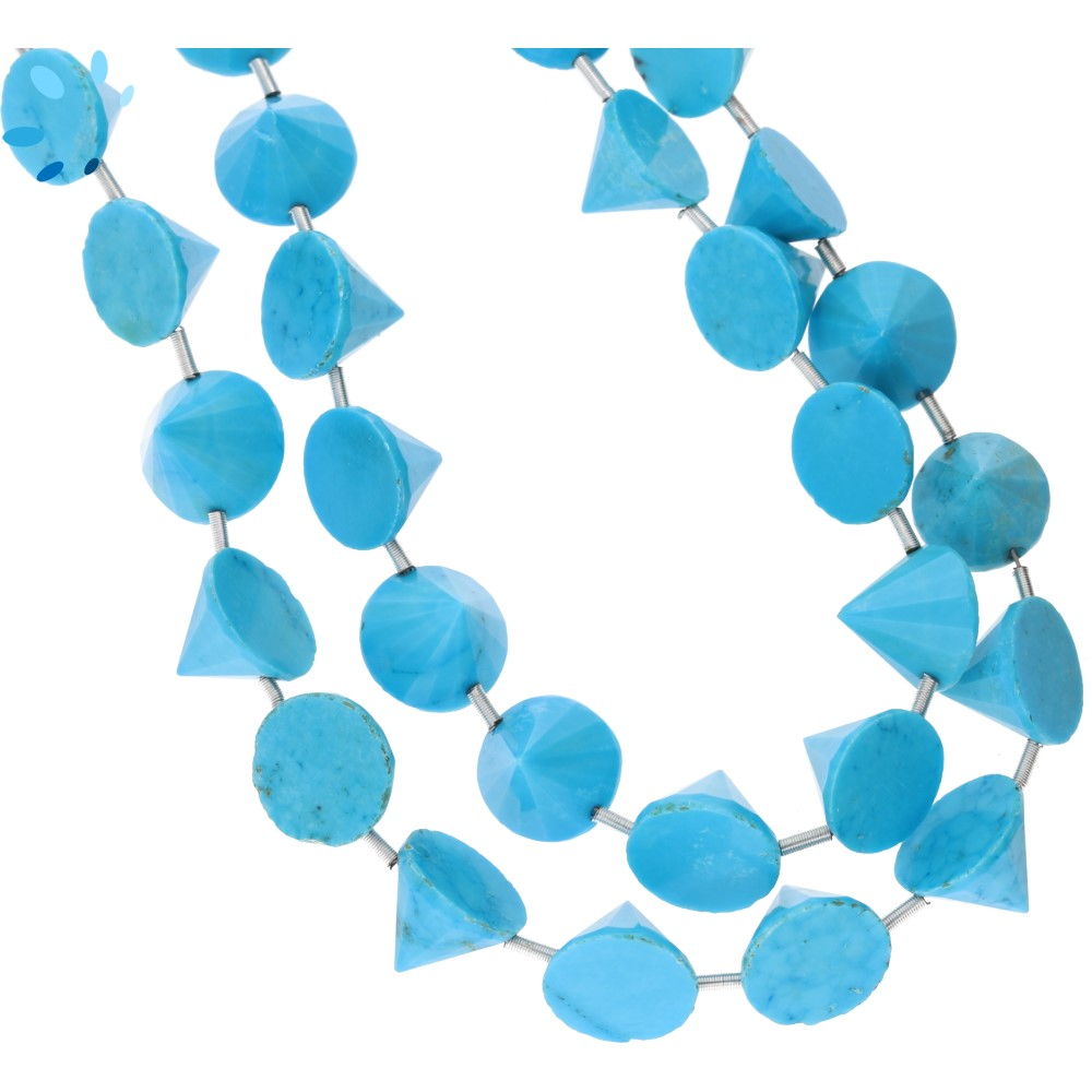 Howlite Turquoise Beads (Treated)