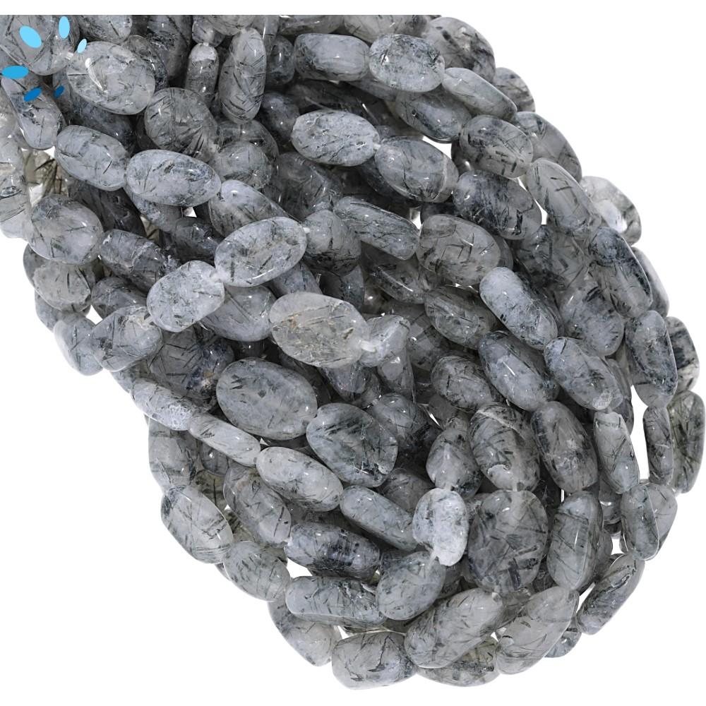 Tourmaline Quartz Beads(Black Rutile)