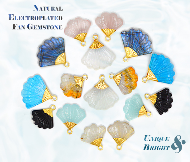 Gemstone Fan Shape