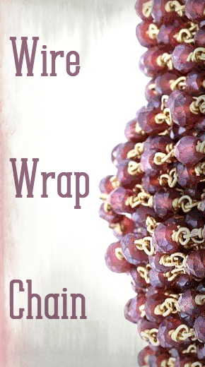 gemstone wire wrap chain